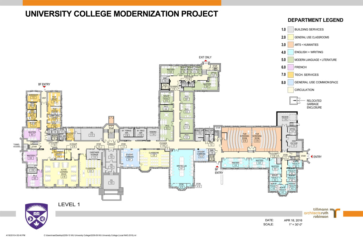 University college renovations faculty of arts and for Western floor plans
