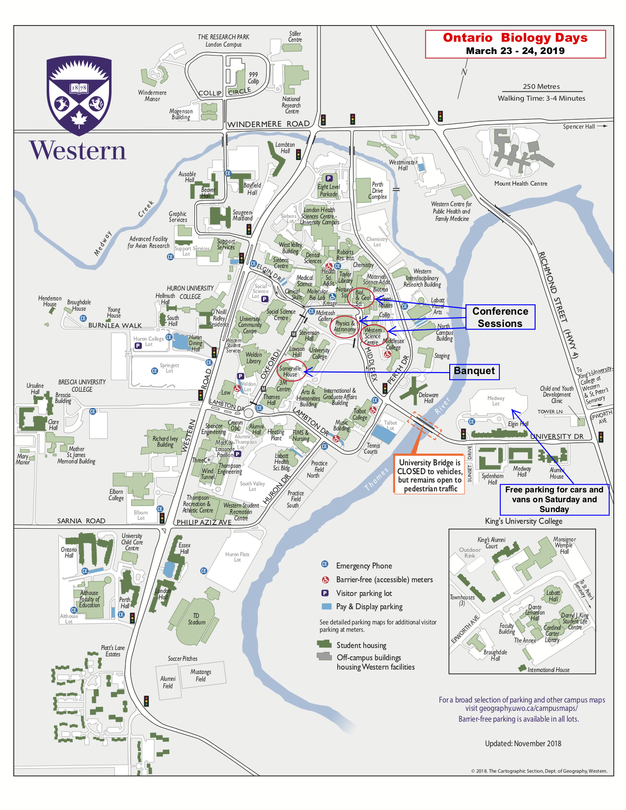 university of western ontario campus map Western University university of western ontario campus map