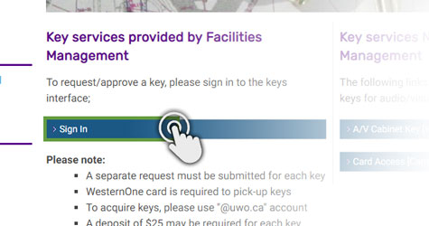 Key Requests - Facilities Management - Western University