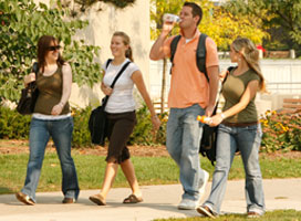 visitors on campus