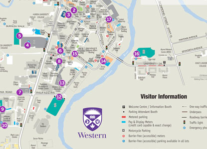 Uwo Campus Map Transportation & Parking   Western University Uwo Campus Map