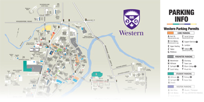 Map - Parking & Visitor Services - Western University