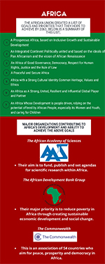 Preview image of an infographic related to international collaboraitons in Africa
